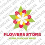 Flowers Logo  Template 16122