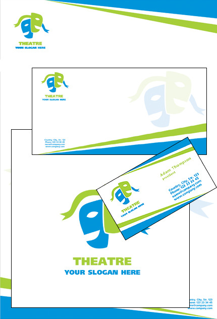 Theater Corporate Identity Template Vector Corporate Identity preview