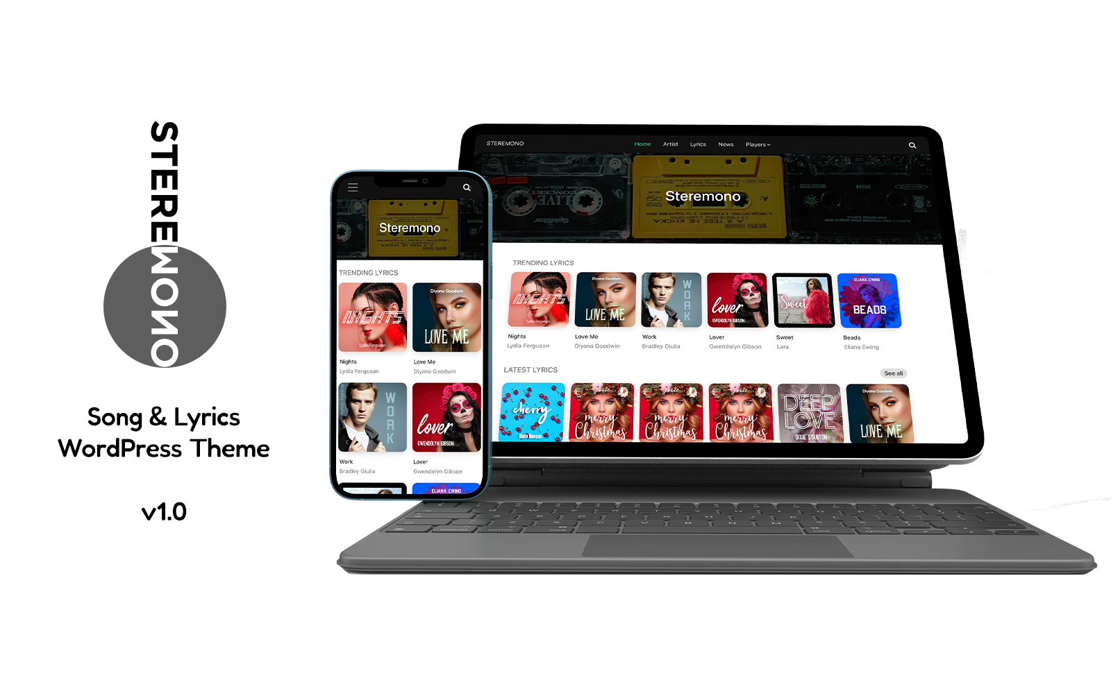 Steremono - WordPress Lyrics Theme