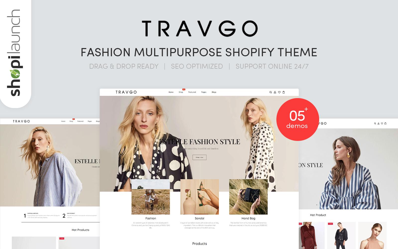 Travgo - Fashion Multipurpose Shopify Theme