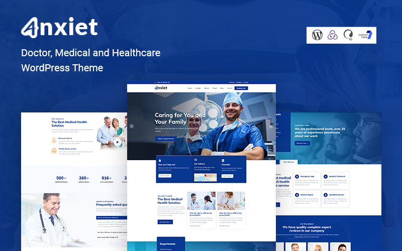 """Anxiet - Doctor, Medical and Healthcare WordPress Theme"" Responsive WordPress thema №161033"