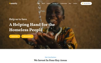 Humanity - Charity & Nonprofit Foundation Landing Page Template