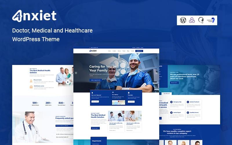 Reszponzív Anxiet - Doctor, Medical and Healthcare WordPress Theme WordPress sablon 161033