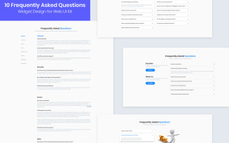 10 FAQs Widget Design for Web-UI Kit