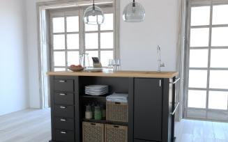Kitchen island 0304 3D Model