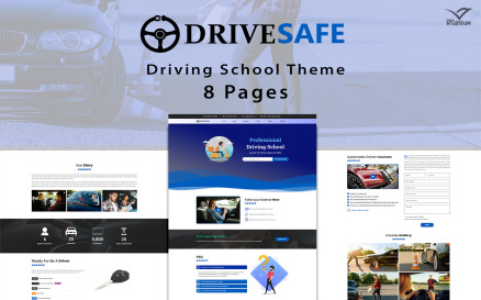 Drive Safe - Driving School Template Elementor Kit