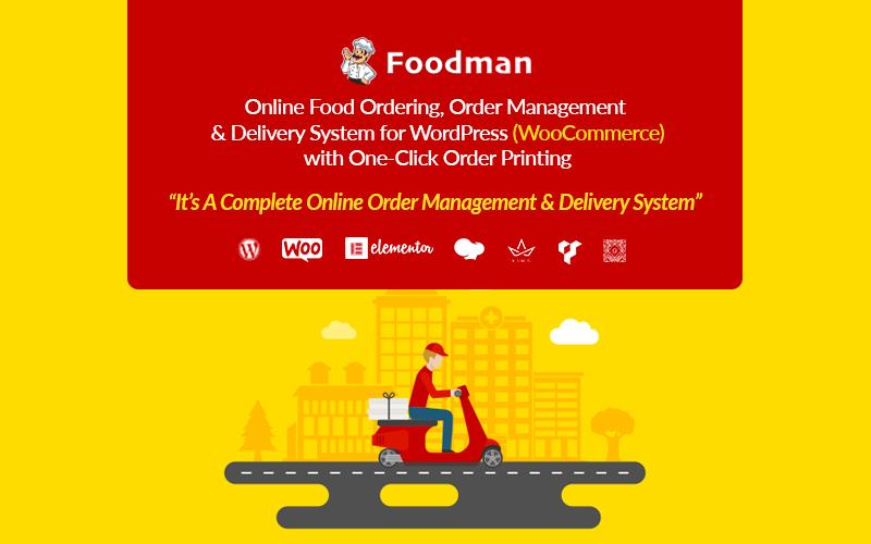 FoodMan | Online eten bestellen, beheer en bezorgsysteem WordPress-plug-in