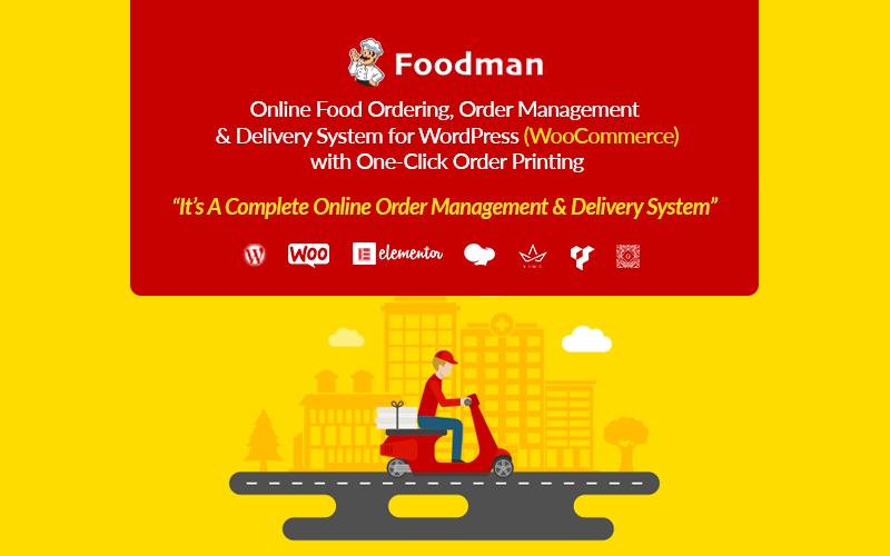 FoodMan | Online Food Ordering, Management & Delivery System WordPress Plugin Plugin WordPress №161902