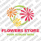 Flowers Logo  Template 16229