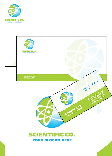 Science Lab Corporate Identity Template Vector Corporate Identity preview