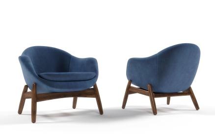 Rare Lounge Armchair Kofod Larsen 3D Model