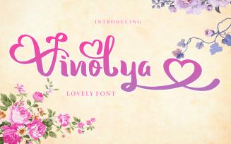 Vinolya - A Lovely Font