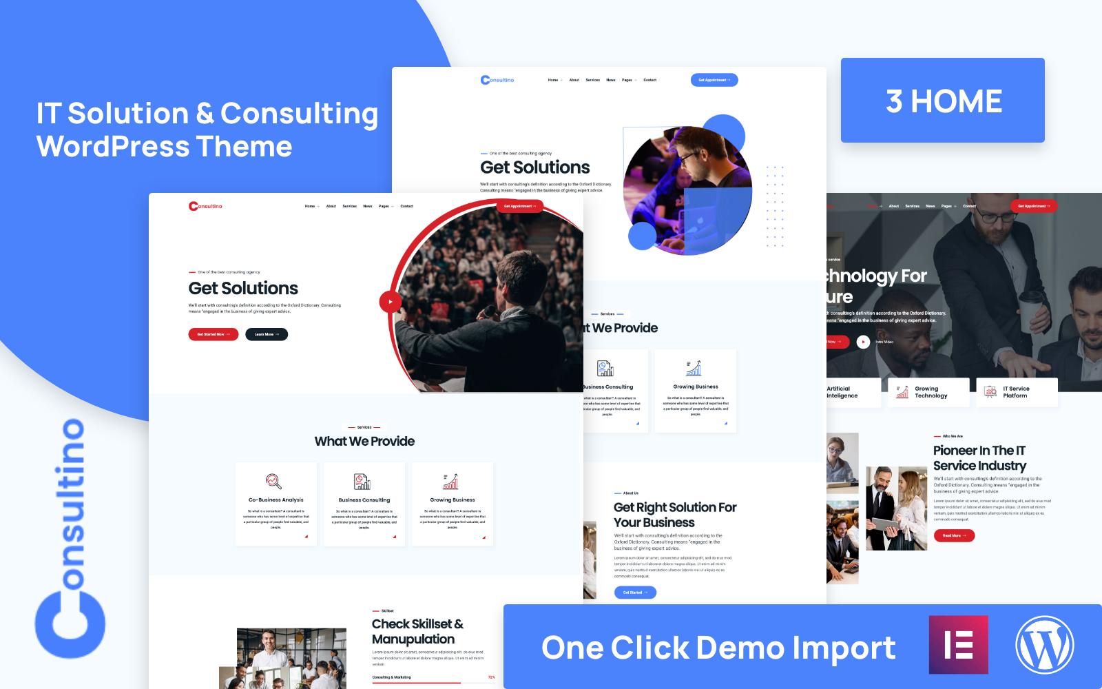 Consultino – IT Solutions & IT Service WordPress Theme
