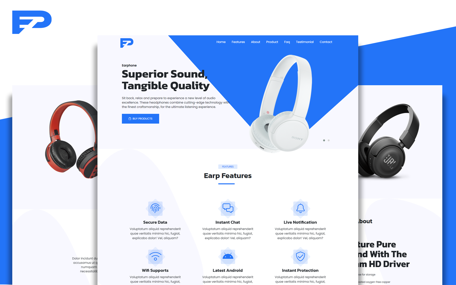 Earp - Creatives Apps and Products Bootstrap Responsive Landing Page Template