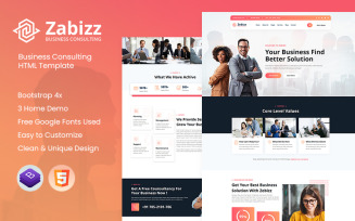 Zabizz - Business Consulting Website Template