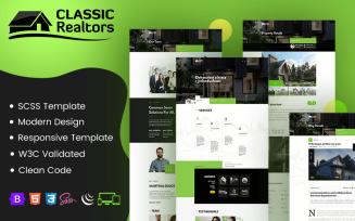 Classic Realtors - HTML5 & SCSS Website Template