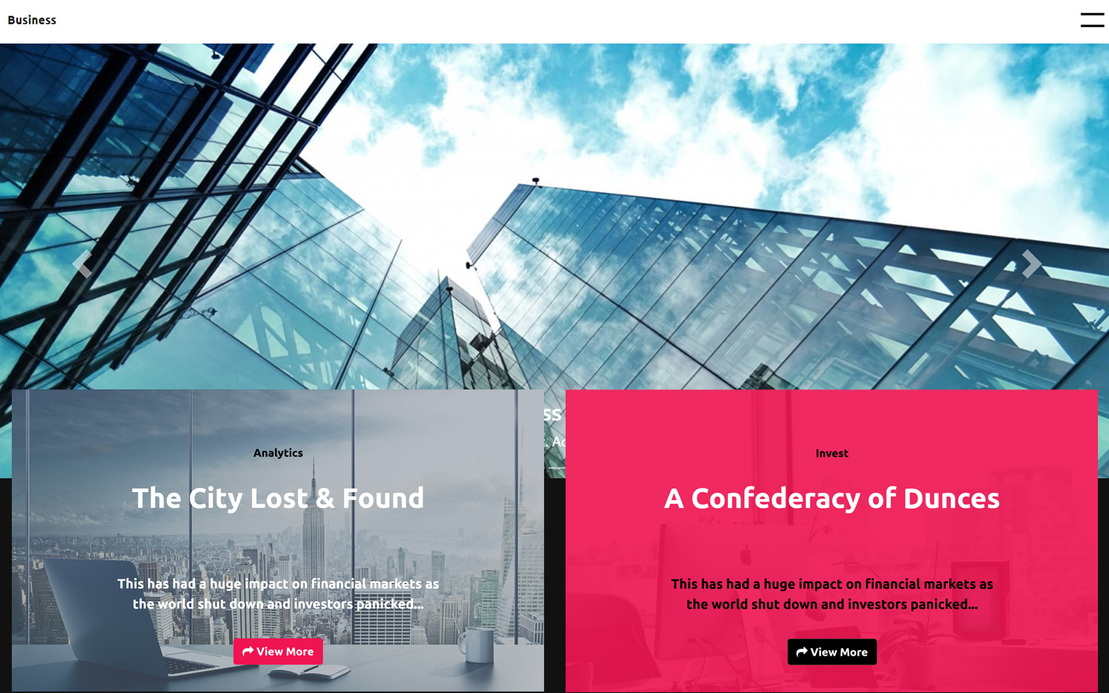Responsivt Business Template - Bootstrap   Laravel Framework Website Template Hemsidemall #162392