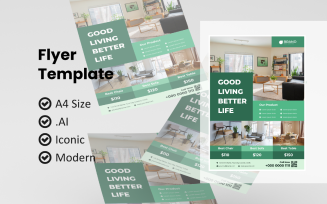 Business Furniture Interior Flyer Corporate Identity Template
