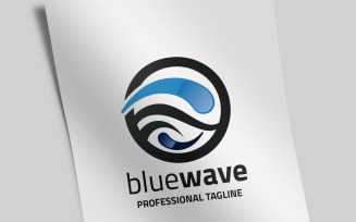 Blue Wave Logo Template