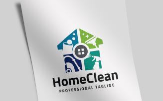 Home Clean Logo Template