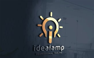 Idea Lamp letter i v.2 Logo Template