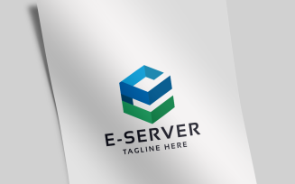 e-Server Letter E Logo Template
