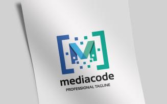 Media Code Letter M Logo Template