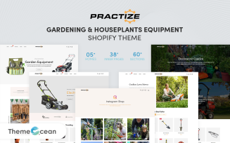 Practize - Gardening & Houseplants Equipment Shopify Theme