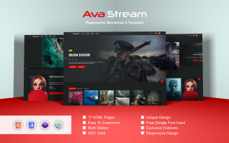 Ava Stream - Responsive Bootstrap 4