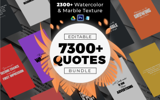 7300 Quotes & Textures Bundle - Corporate Identity Template