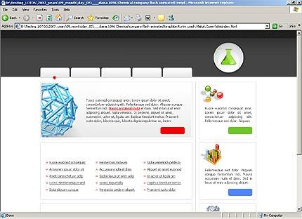 Page d'accueil HTML du kit graphique #16396