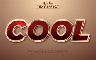 Shiny Rose Gold Style Text Effect - Vector Image