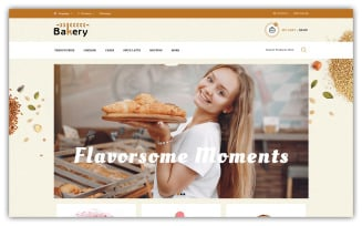 Bakery Store OpenCart Template