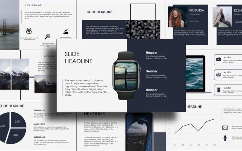 Business Presentation, Infographics, Calendar PowerPoint template PowerPoint Template