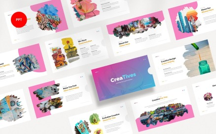 Creatives Creative Agency PowerPoint template PowerPoint Template