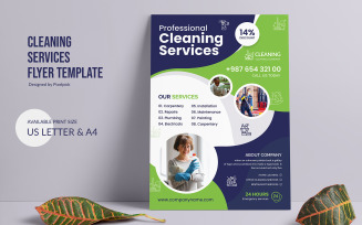 Cleaning Service Flyer Resume Template