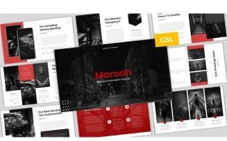 Maroon - Business Template Google Slides
