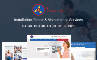 Blooming - AC Installation, Repair & Maintenance Services Landing Page Template