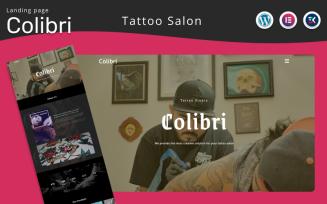 Colibri - Tattoo Salon Landing page WordPress Elementor Theme