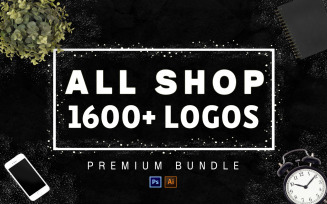1600+ Mega Bundle All Shop! Logo Template