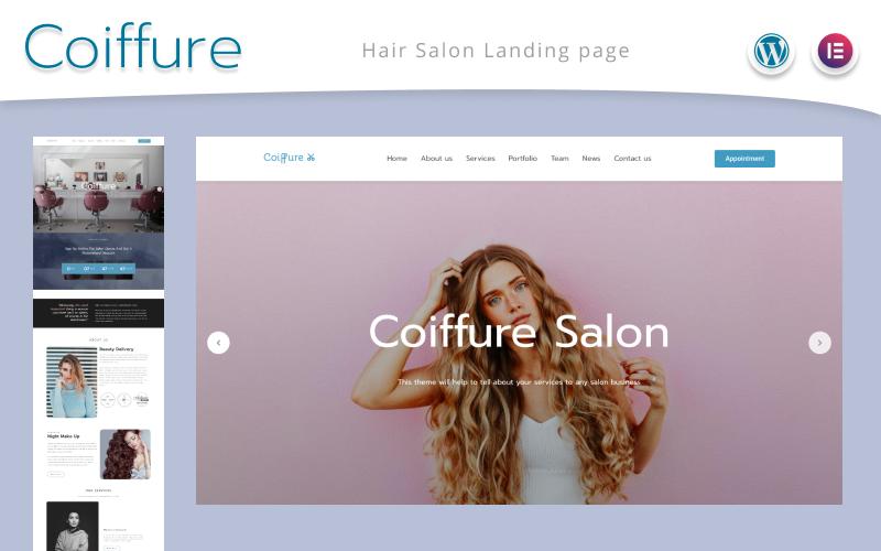 Сoiffure - Hair Salon Landing Page WordPress Theme