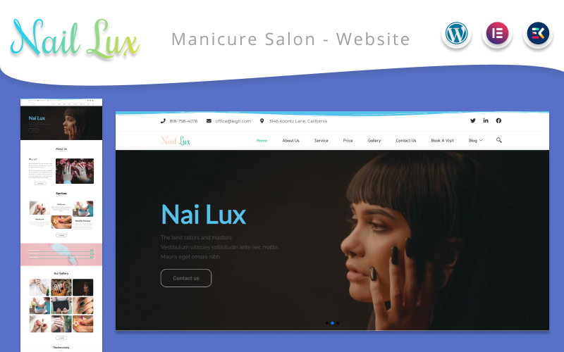Nail Lux  -  Manicure Salon Website WordPress Theme