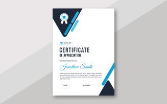 Beautiful Award Certificate Theme Design Certificate Template