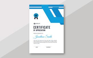 Blue Waves Certificate Theme Design Certificate Template