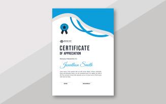 Stylish Award Certificate Layout Certificate Template