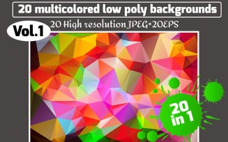 Polygon Vector Set Background