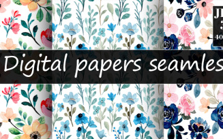 Seamless Floral Watercolor Pattern