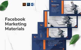 Marketing Agency Facebook Cover and Post Social Media Template