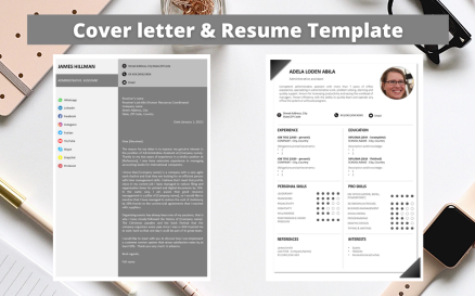 Professional Resume No 15 - Elegant Monochrome Resume Template
