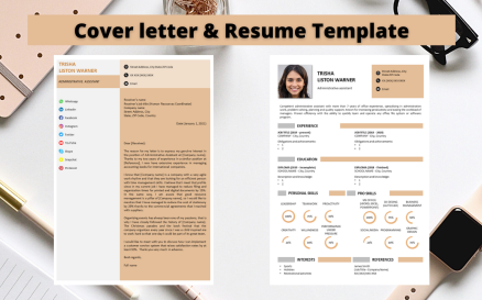 Professional Resume No 16 - Relaxing Cinnamon Resume Template